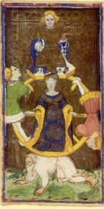 Het rad van Fortuin (Cary-Yale Visconti deck 15e eeuw)
